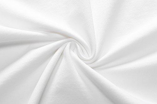 Herou Women Summer Beach Casual Flared Midi Tank Dress (Large, White)