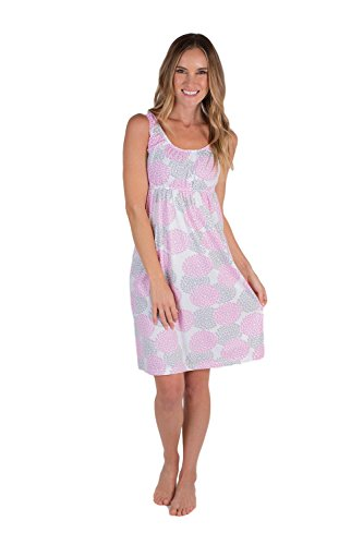Baby Be Mine Maternity Nursing Nightgown - Sleeveless (Medium pre Pregnancy 8-10, Lilly)