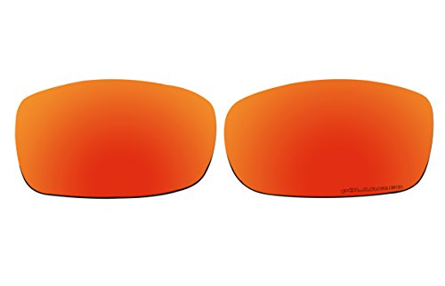 BVANQ Polarized Lenses Replacement for Oakley Fives Squared (2008) Sunglasses (Fire Red Mirror - 5 Lenses Replacement Oakley