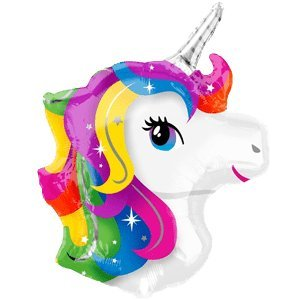 23 Quot Rainbow Unicorn Head Balloon Delivered Inflated In A