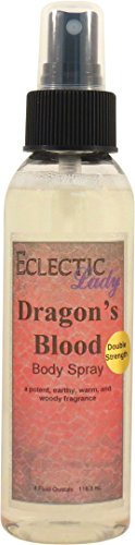 Dragon's Blood Body Spray (Double Strength), 4 ounces by Eclectic Lady