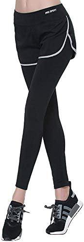 Ⓡ レギンス レディース ショートパンツ付 一体型 タイツ スパッツ スポーツ ヨガ ジョギング ランニング ウェア