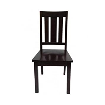 Better Homes and Gardens Mission Style Wooden Chairs, Set of 2, Mocha, Espresso