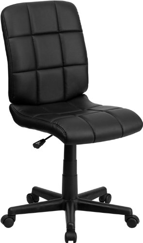 Flash Furniture Mid-Back Black Quilted Vinyl Swivel Task (Black Office Furniture)