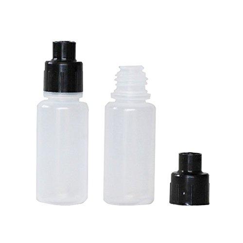 10ml Squeezable Bottle Dispensing Bottle with Black Luer Lock Transfer Cap 50 Units