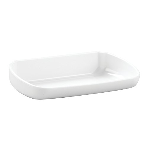 InterDesign AFFIXX, Peel and Stick Strong Self-Adhesive Soap Dish Tray for Kitchen, Bathroom, Laundry Room - White