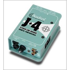 Radial Engineering J+4 Stereo -10dB to +4dB Line Driver by Radial Engineering