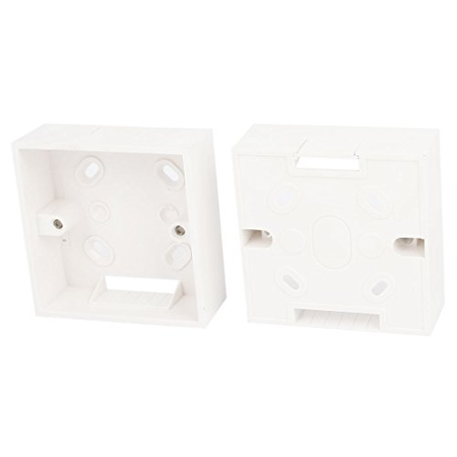 2PCS White PVC One Gang Mount Back Box for Wall Socket - Mount Back Box
