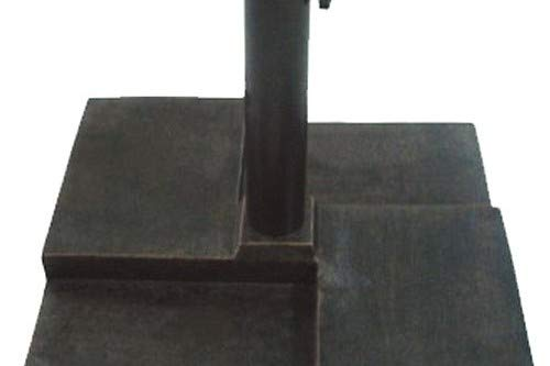 DC America UBP25251-BR Square Cast Stone Umbrella Base, Made from Rust Free Composite Materials, Bronze Powder Coated Finish