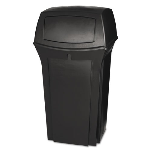 (Rubbermaid Ranger 2 Door Outdoor Trash Can, 35 Gallon, Brown)