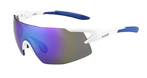 Bolle 5th Element Sunglasses, Matte White/Blue Violet Oleo ()