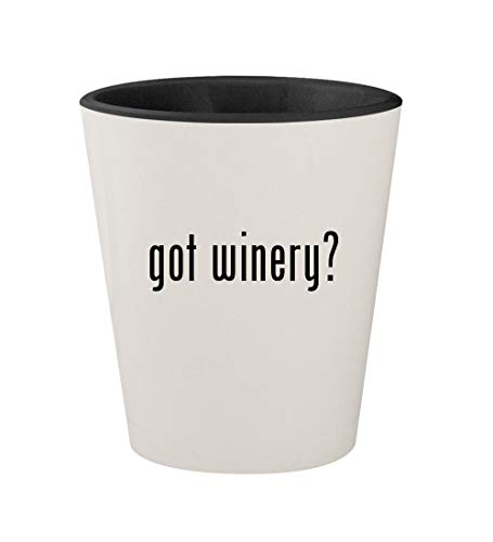 got winery? - Ceramic White Outer & Black Inner 1.5oz Shot Glass