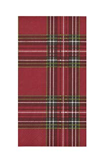 paper guest towels christmas bathroom decor hand towels christmas party red tartan plaid pk 32 - Christmas Bathroom Decor Amazon