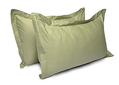 400 Thread Count 2 Pcs Pillow Shams 100% Egyptian Cotton Solid/Plain (King,20