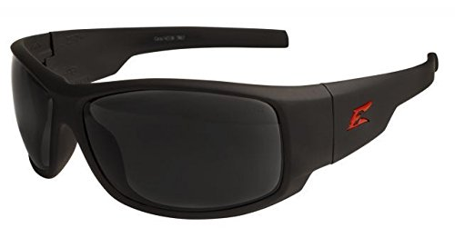 Edge Eyewear Caraz Torque, Matte Black/Red Edge Safety Glasses