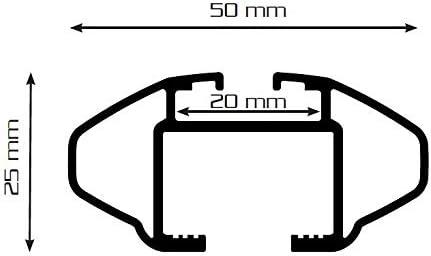 Barres de Toit CRV135 Compatible avec Peugeot 4007 /à partir de 07 VDP BA320 Coffre de Toit Aspect Carbone