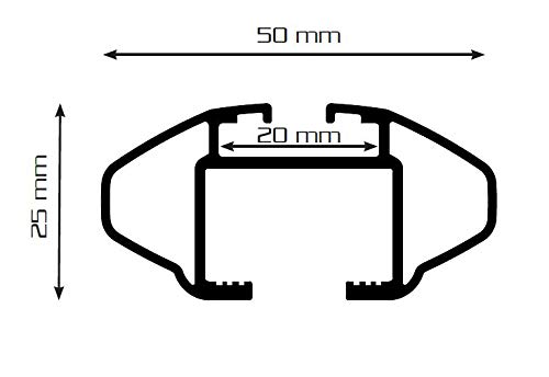 Dachbox BA320 carbonlook Relingtr/äger CRV107A kompatibel mit Volvo XC60 5 T/ürer ab 2008