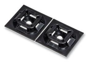 Cable Tie Mount, Super Grip 4 Way, Adhesive, Black, Nylon 6.6 (Polyamide 6.6), 19.1 mm, 19.1 mm