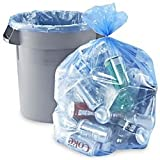 Heavy Duty Industrial Strength 1.3 Mil Trash/Garbage Can Liner - Translucent Blue 33 Gallon - Case of 100 (#3340B)