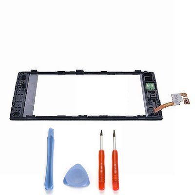 Touch Screen Digitizer + frame for Nokia Lumia 520 with free tools (Not include LCD)