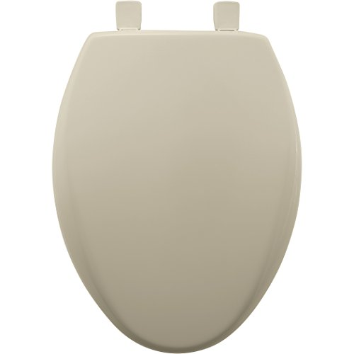 Hinge Plastic Cover (Mayfair Slow-Close Plastic Toilet Seat featuring Easy Clean & Change Hinges and STA-TITE Seat Fastening System, Elongated, Bone, 120SLOWE 006)