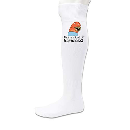 Men&Women Football Socks This Is A Load Of Barnacles Spongebob White 34-42 Yards