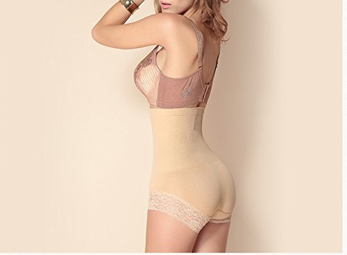 Fzmix Waist Trainer Bodysuit Slimming Underwear Corsets Hot Shapers Body Shaper Sashes Shapewear Underwear Bodysuit Control Pants Beige