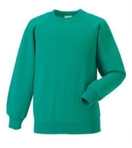 Sweat nbsp;– Enfants Pour Jerzees nbsp;10 shirt Classique Winter Emerald D'école nbsp;couleurs EqYxIaT