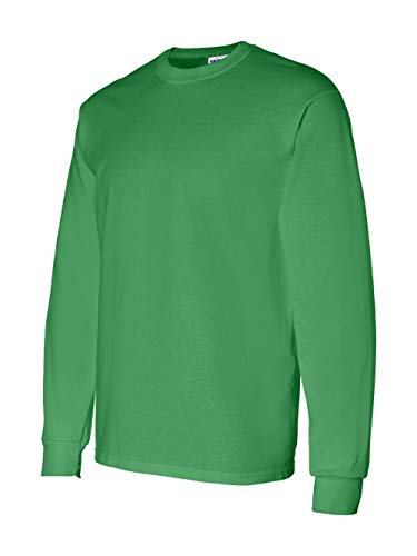 Gildan Mens 5.3 oz. Heavy Cotton Long-Sleeve T-Shirt (G540) -IRISH GREE -L