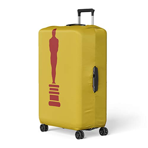 Pinbeam Luggage Cover Oscar Academy Award in Flat First Place Prize Travel Suitcase Cover Protector Baggage Case Fits 26-28 - Pedestal Award