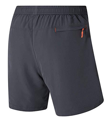 trainingsshorts sneldrogend fitness inpakken grijs ritszakken herbruikbaar sport sportshorts voor heren outdoorshorts Leezepro outdoor kort met xpq0HIwA