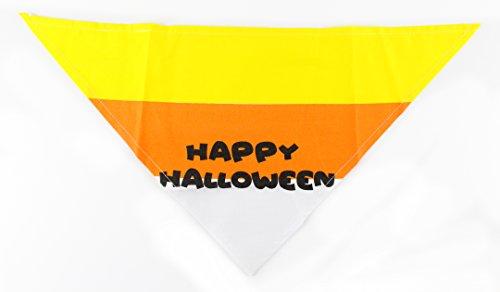 Candy Corn Halloween Dog Bandana by Midlee (Large) (Corn Dog Costume Halloween)