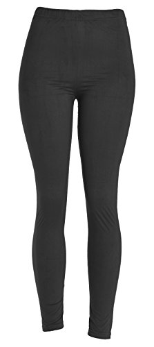VIV Collection Women's Printed High-Waist & Solid Velour Leggings 31sdTOc0luL