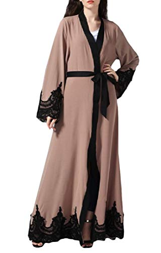 Lutratocro Women Islamism Lace Mide Robe Turkey Abaya for sale  Delivered anywhere in USA