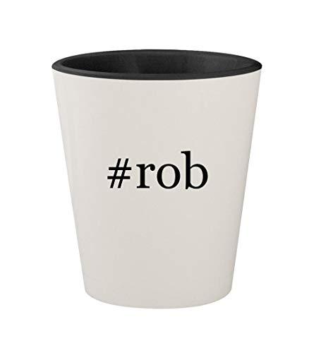 #rob - Ceramic Hashtag White Outer & Black Inner 1.5oz Shot Glass]()