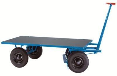 EUROKRAFT Handpritschenwagen - Tragfähigkeit 1000 kg Ladefläche 2000 x 1000 mm, Luftreifen - Handpritschenwagen Handwagen Pritsche Pritschen Pritschenwagen