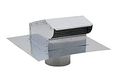 Bath And Kitchen Exhaust Vent With Extension Galvanized 6 Inch