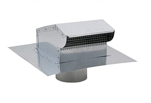 Bath and Kitchen Exhaust Vent with Extension - Galvanized 8 inch