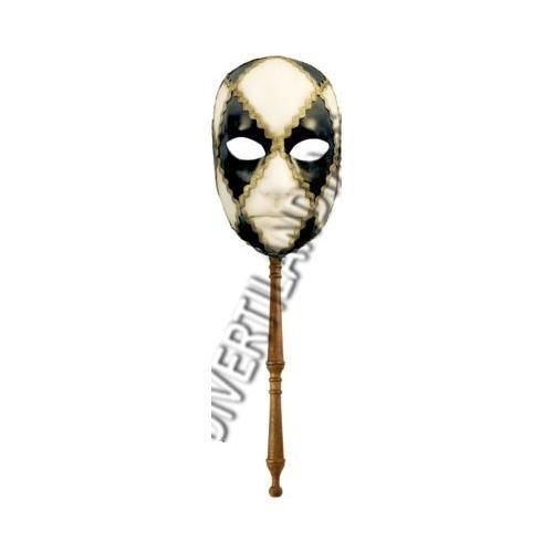 KARTARUGA SRL, GESICHT AURORA CHESS schwarz Weiß STICK B00L5L7S8K Masken für Erwachsene Angenehmes Aussehen  | Qualitätsprodukte