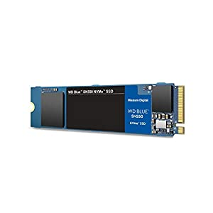Western Digital WD SN550 500GB NVMe Internal SSD – 2400MB/s R, 1750MB/s W, (WDS500G2B0C, Blue)
