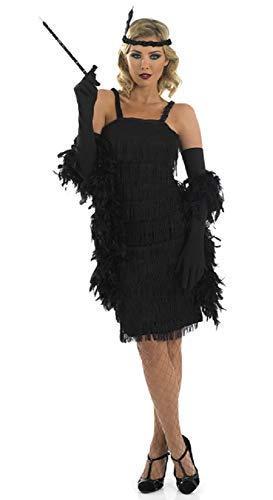 7f6635756 Da Donna Nero 1920s Anni '30 da Flapper, Charleston con Frangia Guarnito di  Frangia
