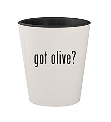 got olive? - Ceramic White Outer & Black Inner 1.5oz Shot Glass