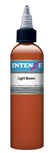 Intenze Tattoo Ink - Light Brown - 1oz Bottle - Intenze Light