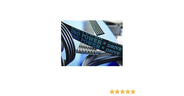 0.46 Width Rubber 0.46 Width D/&D PowerDrive 200J5 Poly V Belt