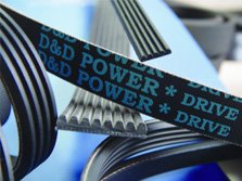 D/&D PowerDrive 6PK1725 Metric Standard Replacement Belt Rubber