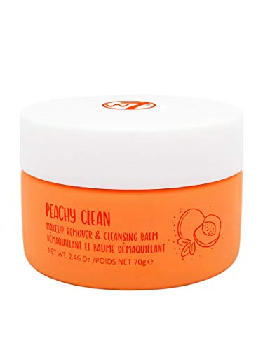 W7 | Peachy Clean Makeup Remover and Cleansing Balm | Peach-Scented Emulsifying Cleanser | Remove Impurities and Makeup | Cruelty Free, Vegan Skincare by W7 Cosmetics