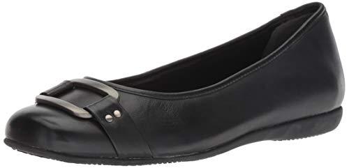 Trotters Women's Sizzle Signature Ballet Flat,Black,12 W US