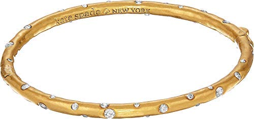 (Kate Spade New York Women's Elegant Edge Stone Bangle Clear/Gold One)