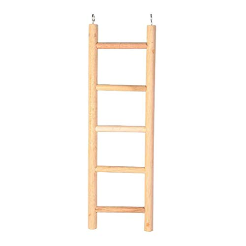 Pet Ting 45cm 5 Steps Wooden Ladder Budgie Finch Canary Bird Cage Play Climbing