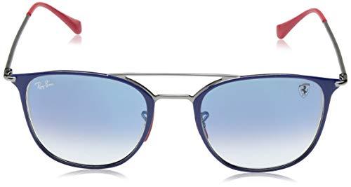 Blue Mm Steel ban Gunmetal Sunglass On Top 0 Square Ray Unisex 87qwUqH4